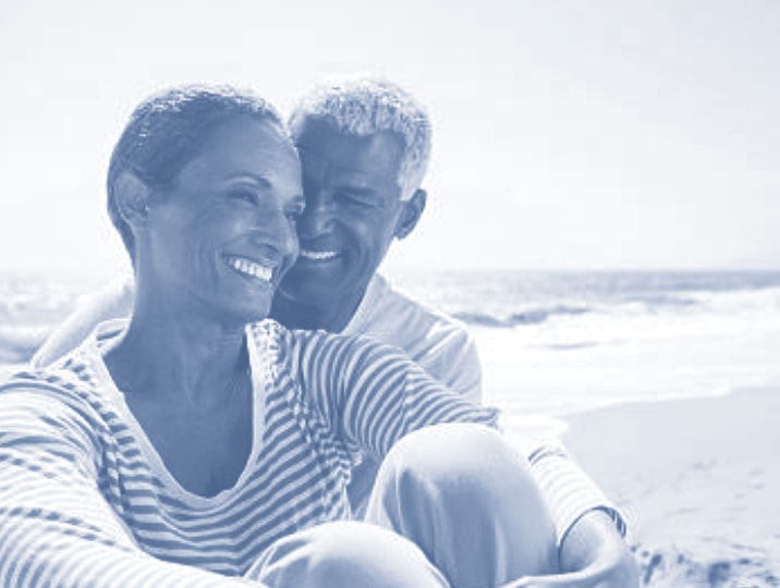 Man and a woman together on a beach
