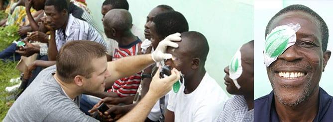 Medical Eye Center provider volunteering in Ghana