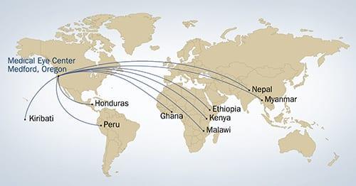 Medical Eye Center map of Volunteering Abroad