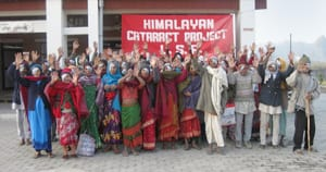 Picture of patients celebrating in Nepal after free Medical Eye Center treatment