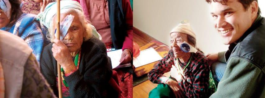 Medical Eye Center provider volunteering in Nepal
