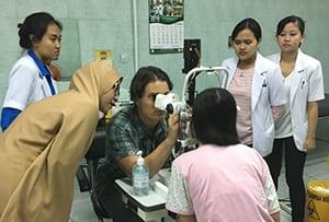 Medical Eye Center's Dr. Oliva volunteering in Myanmar