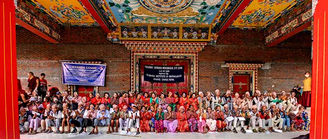 Picture of all the patients Medical Eye Center treated for free in Nepal