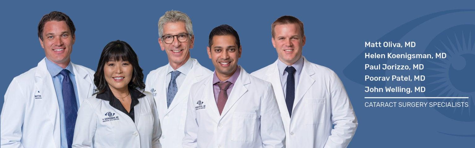 Cataract surgeons Medical Eye Center